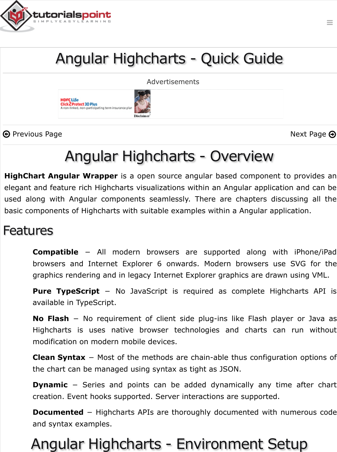 Angular Highcharts Quick Guide