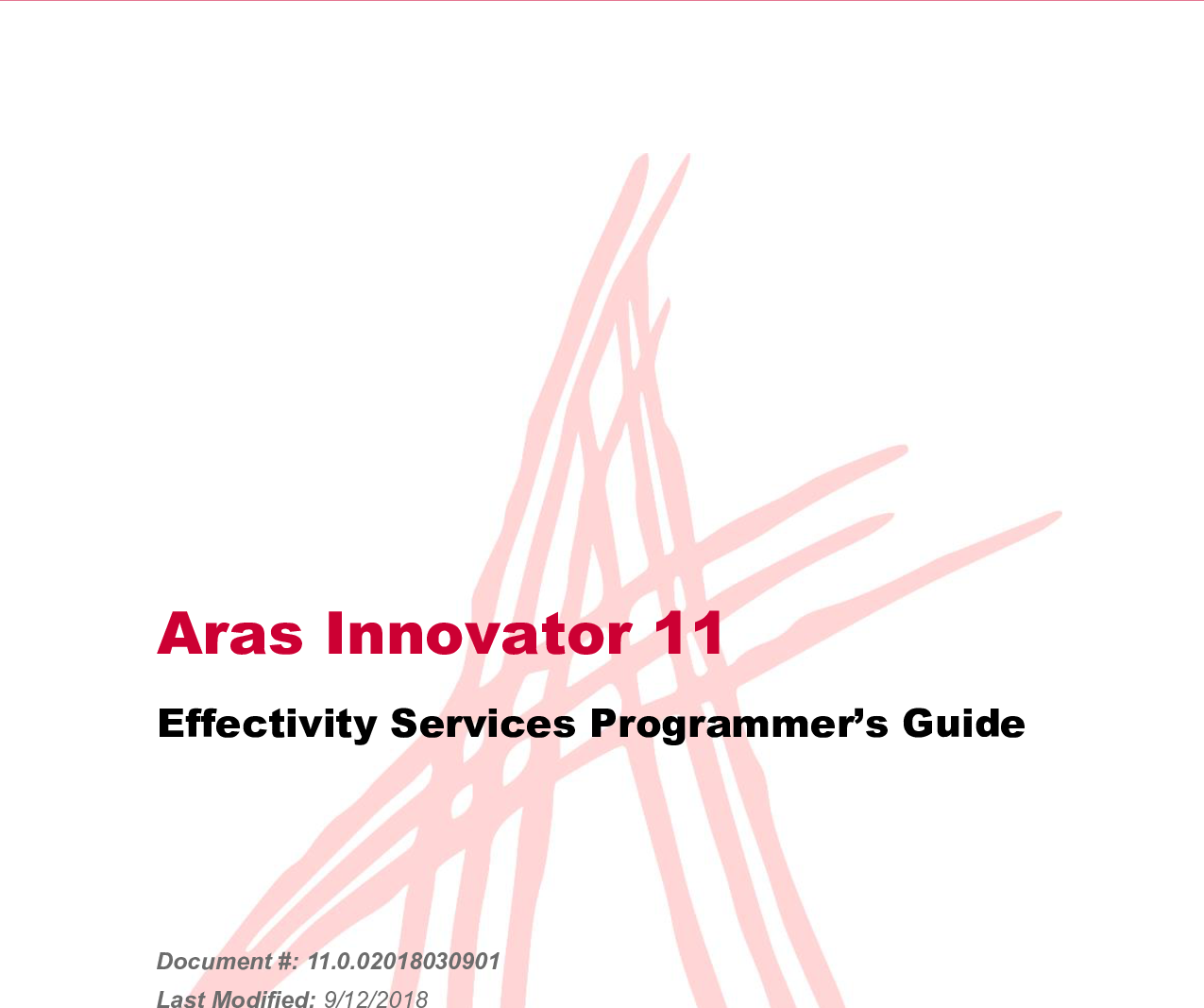 Aras Innovator 11 0 Effectivity Services Programmers Guide