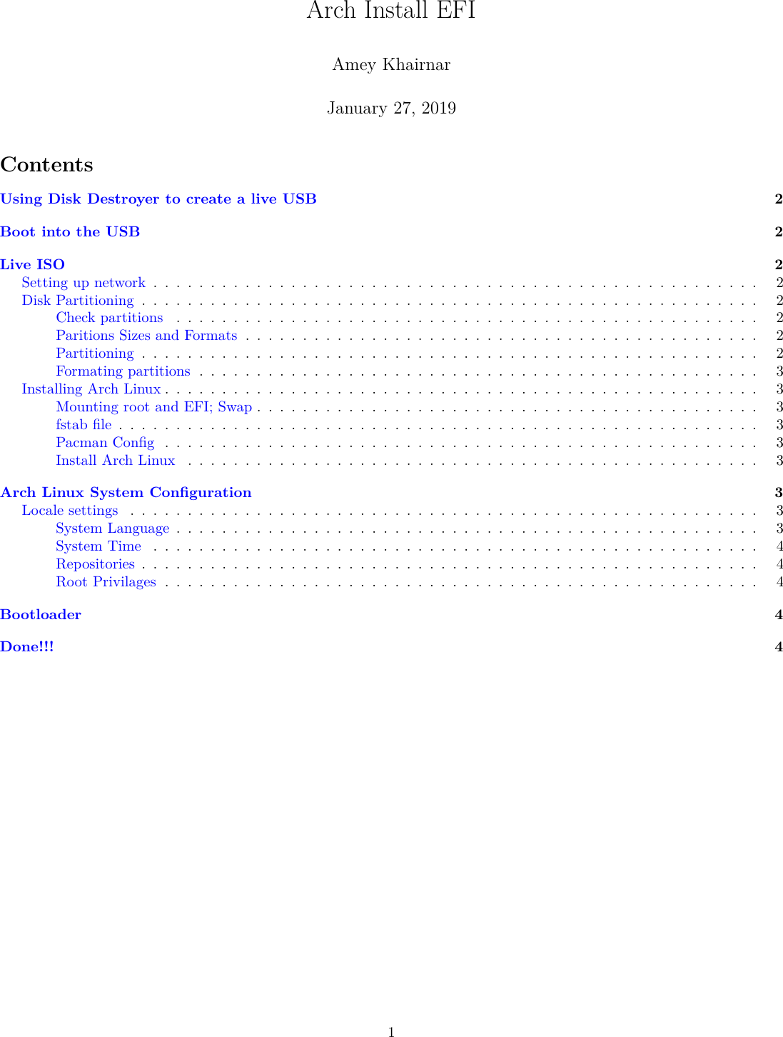 Arch Install EFI Guide