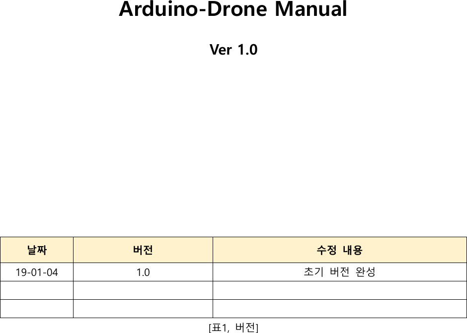 Arduino Drone Manual