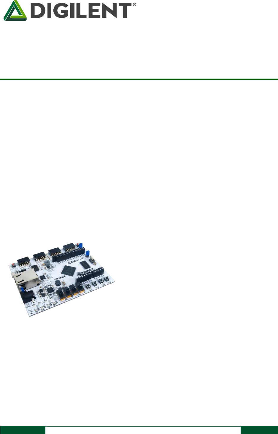 Arty FPGA Board Reference Manual