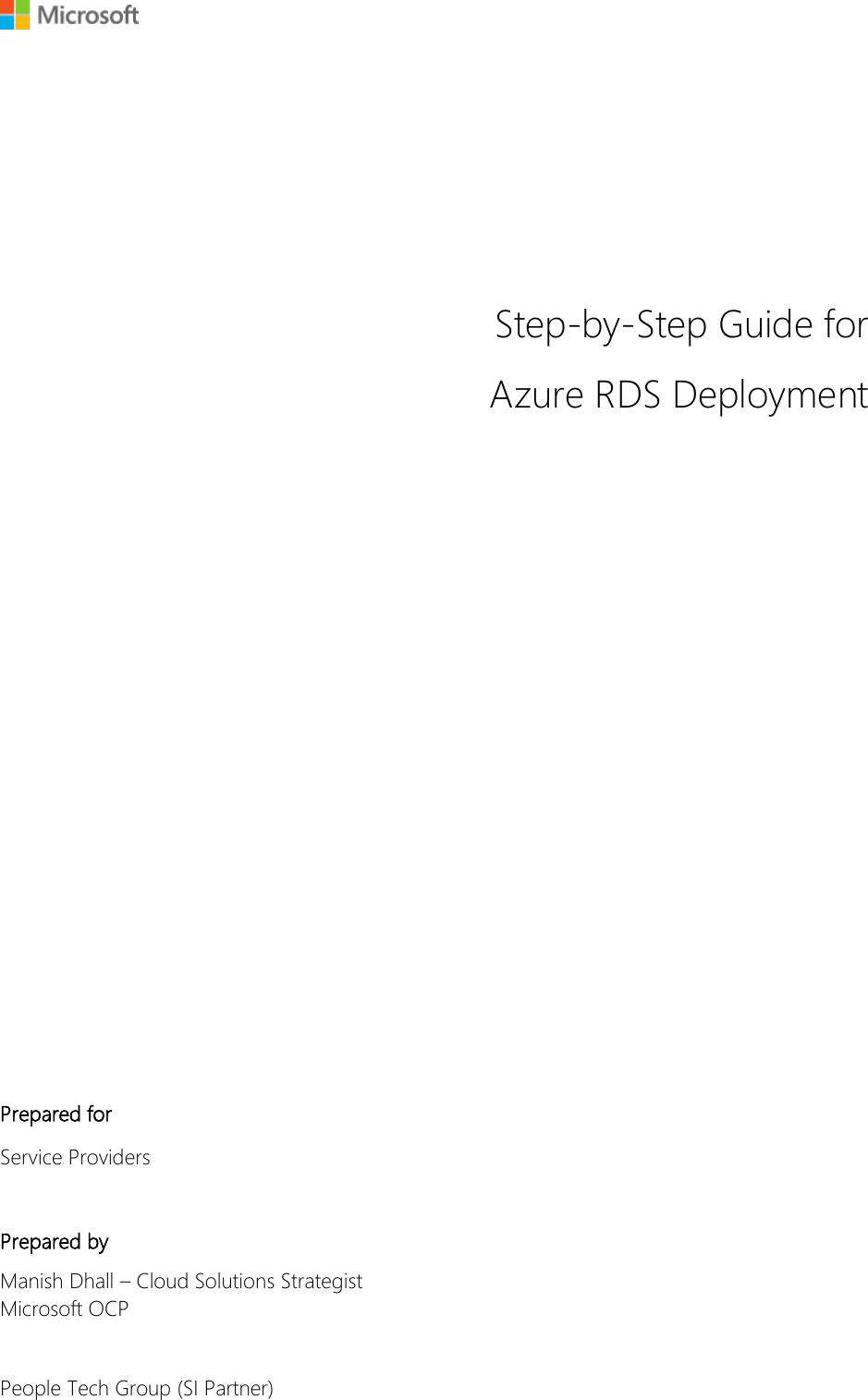 Azure RDS Deployment Guide