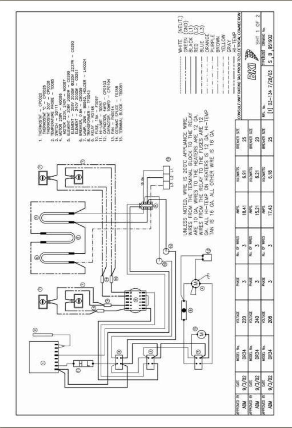 Dr34sm Double Revolving Oven Dr 34 Bki Dr34 Spm Element Wire Diagram For One Wiring Diagrams