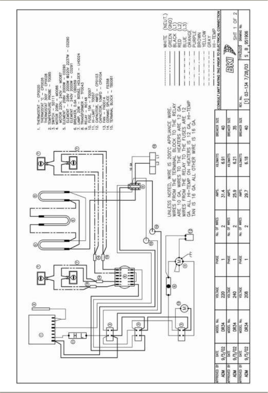 Dr34sm Double Revolving Oven Dr 34 Bki Dr34 Spm Rack Wiring Diagram Aps Diagrams