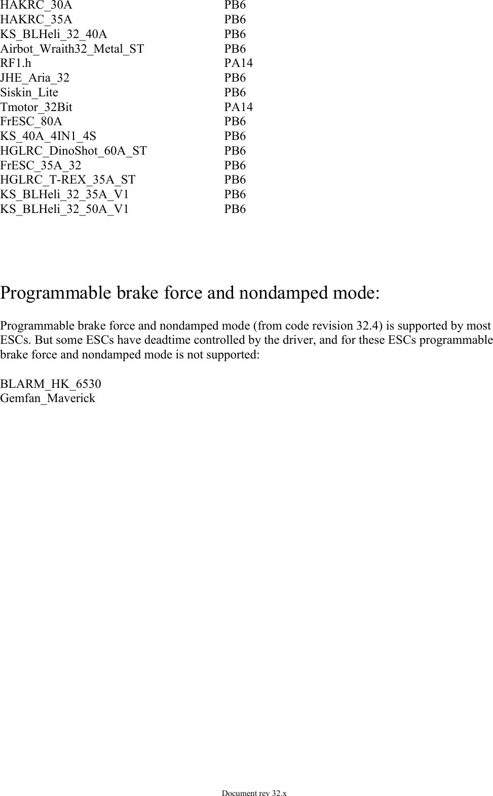 BLHeli 32 Manual ARM Rev32 x