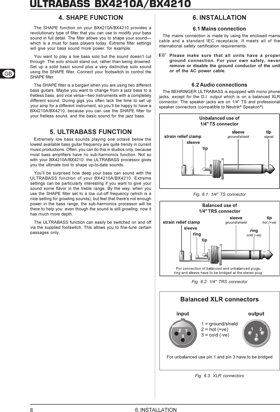 Data Manfull Bx4210a Eng Rev Cpmd Behringer User Manual Schematic Balanced Xlr To Connections Page 8 Of 10 P0361 M