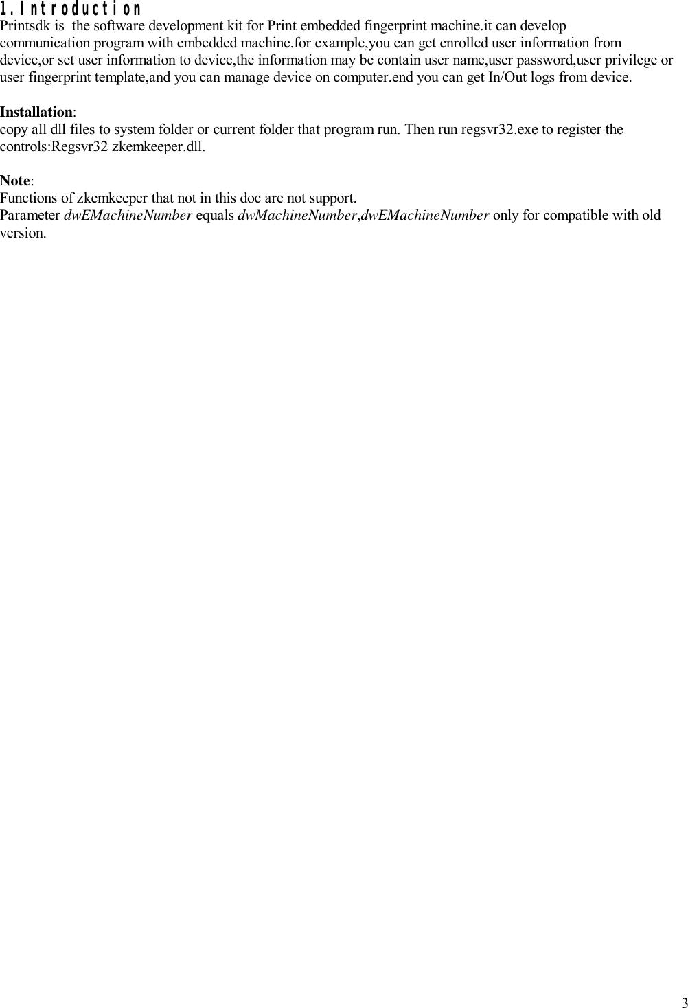 Zkemkeeper Programmer's Guider_en Biometric Device SDK Programmers Guide