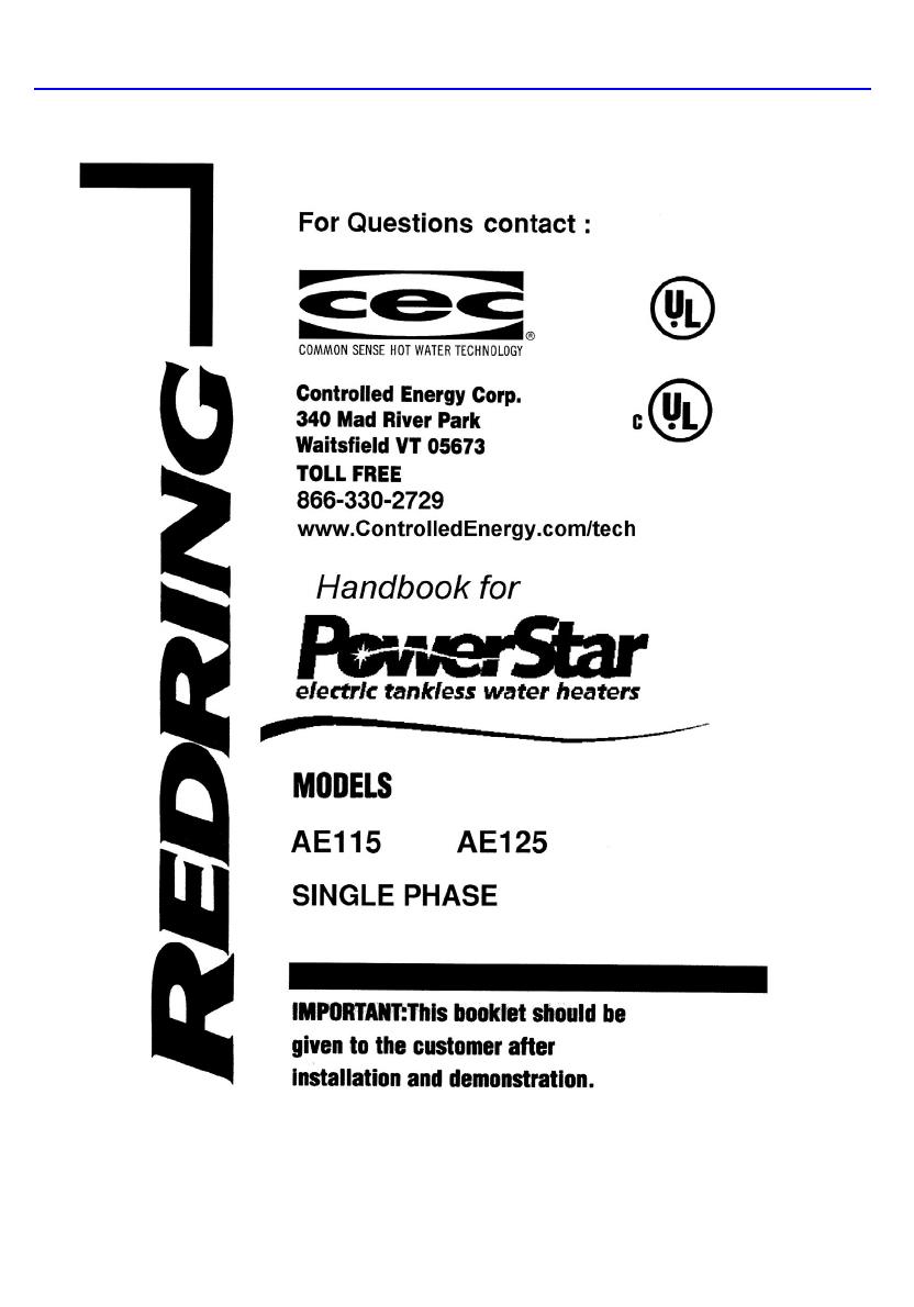 Powerstar Booklet Bosch Ae115 Ae125 Manual