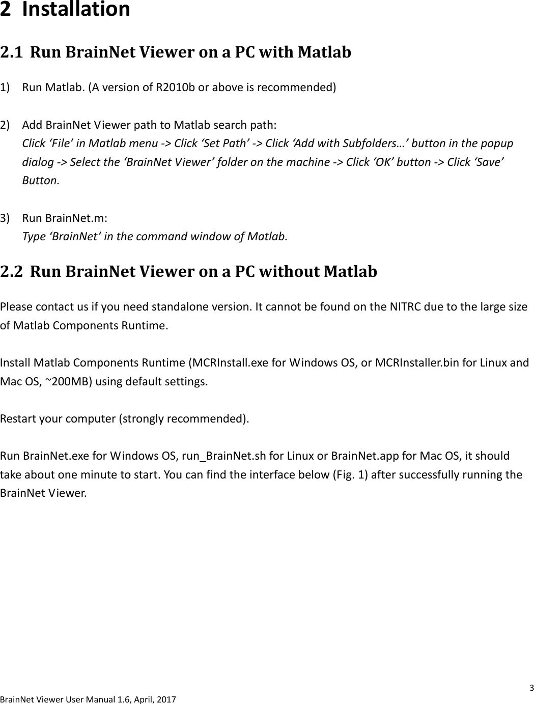 BrainNet Viewer Manual Brain Net