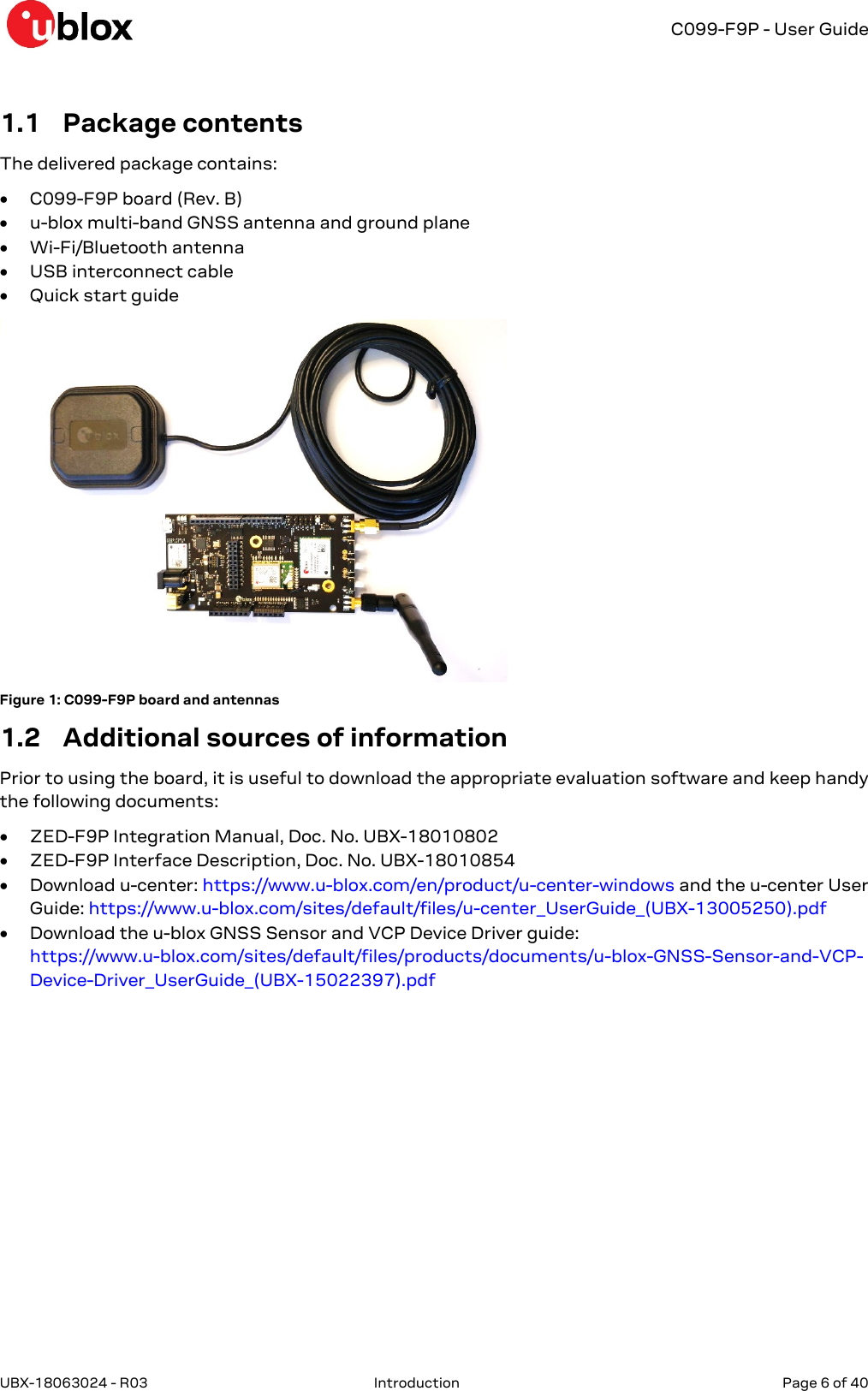 C099 F9P App Board Mbed OS3 FW User Guide (UBX 18063024)