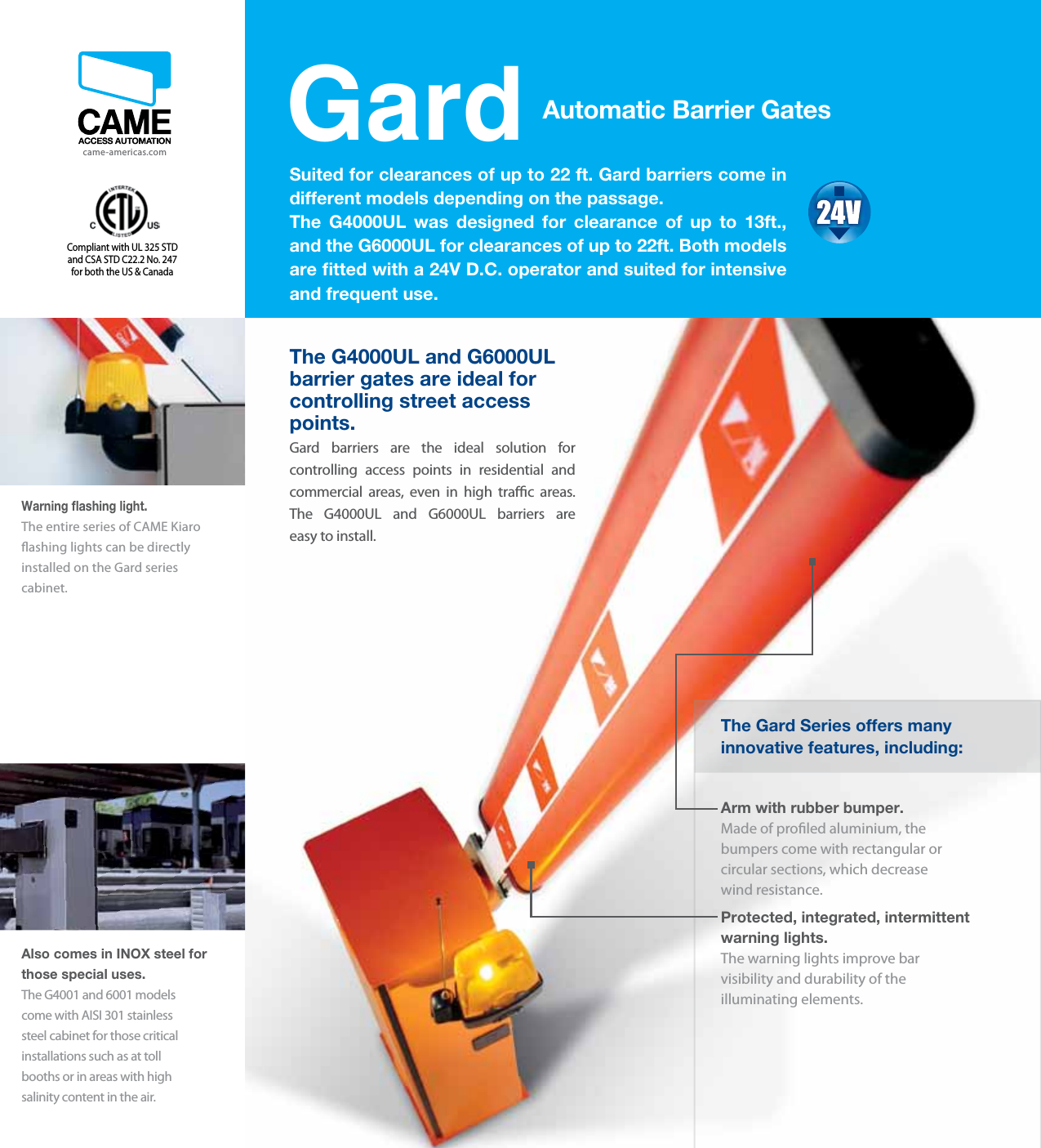 CAME Barrier Gate Brochures