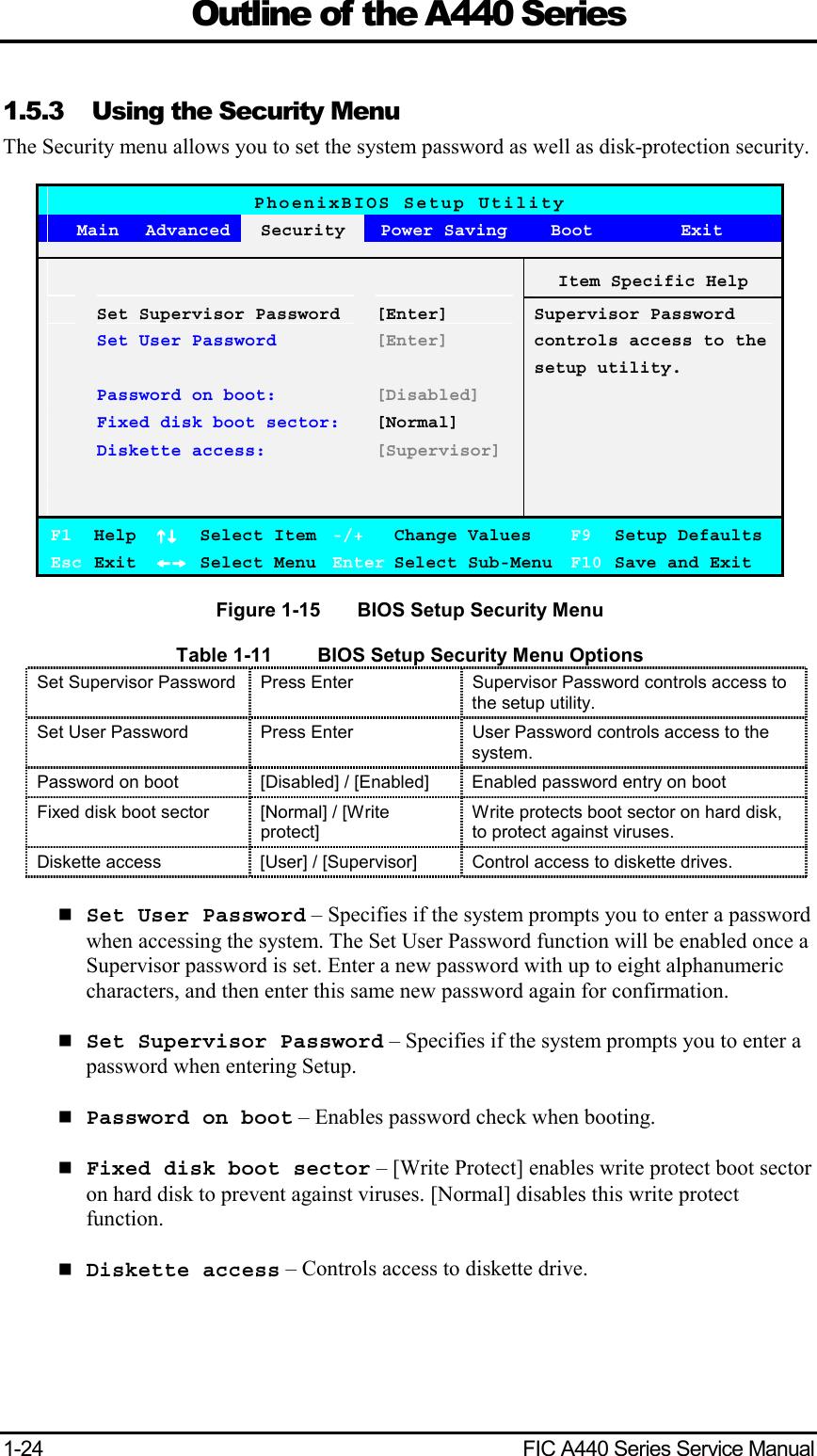 1 C CHAP1 MEDION A440 Service Manual