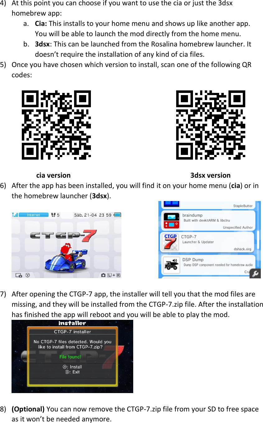 CTGP 7 Intallation Guide EN