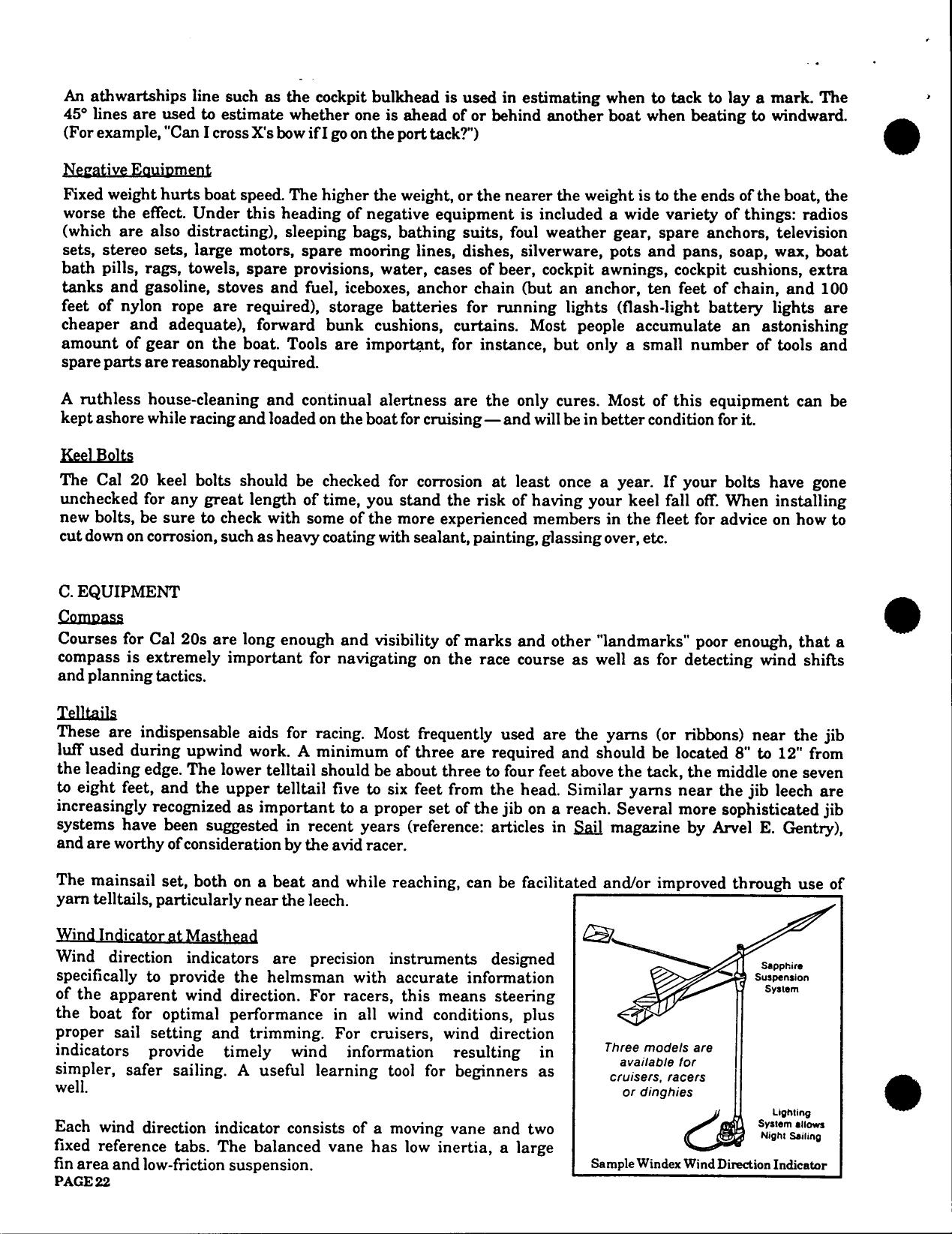 Cal 20 Owners Manual