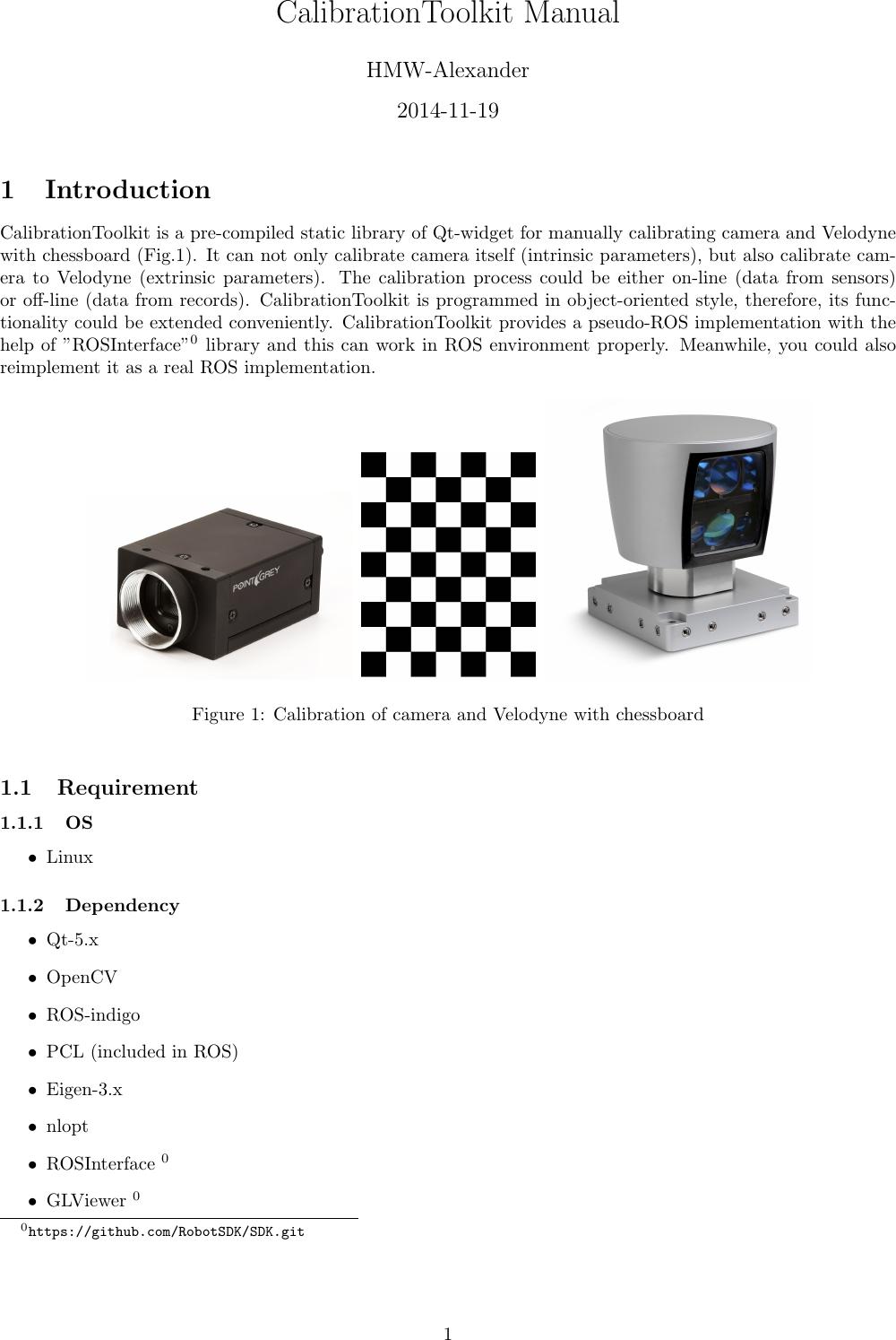 Calibration Toolkit Manual