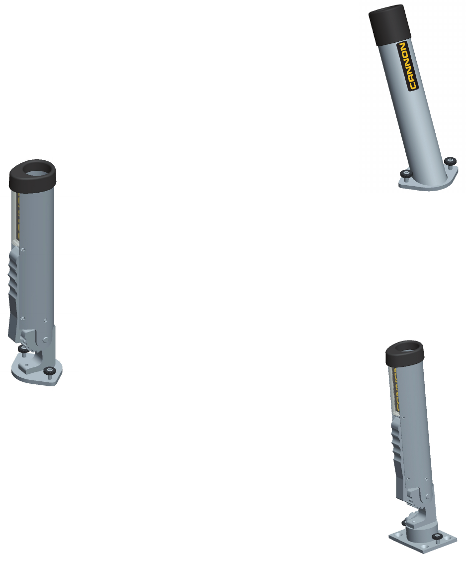 Cannon 6-Inch Aluminum Fixed Base Pedestal Mount
