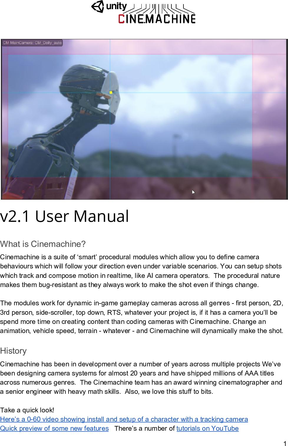 Cinemachine User Manual