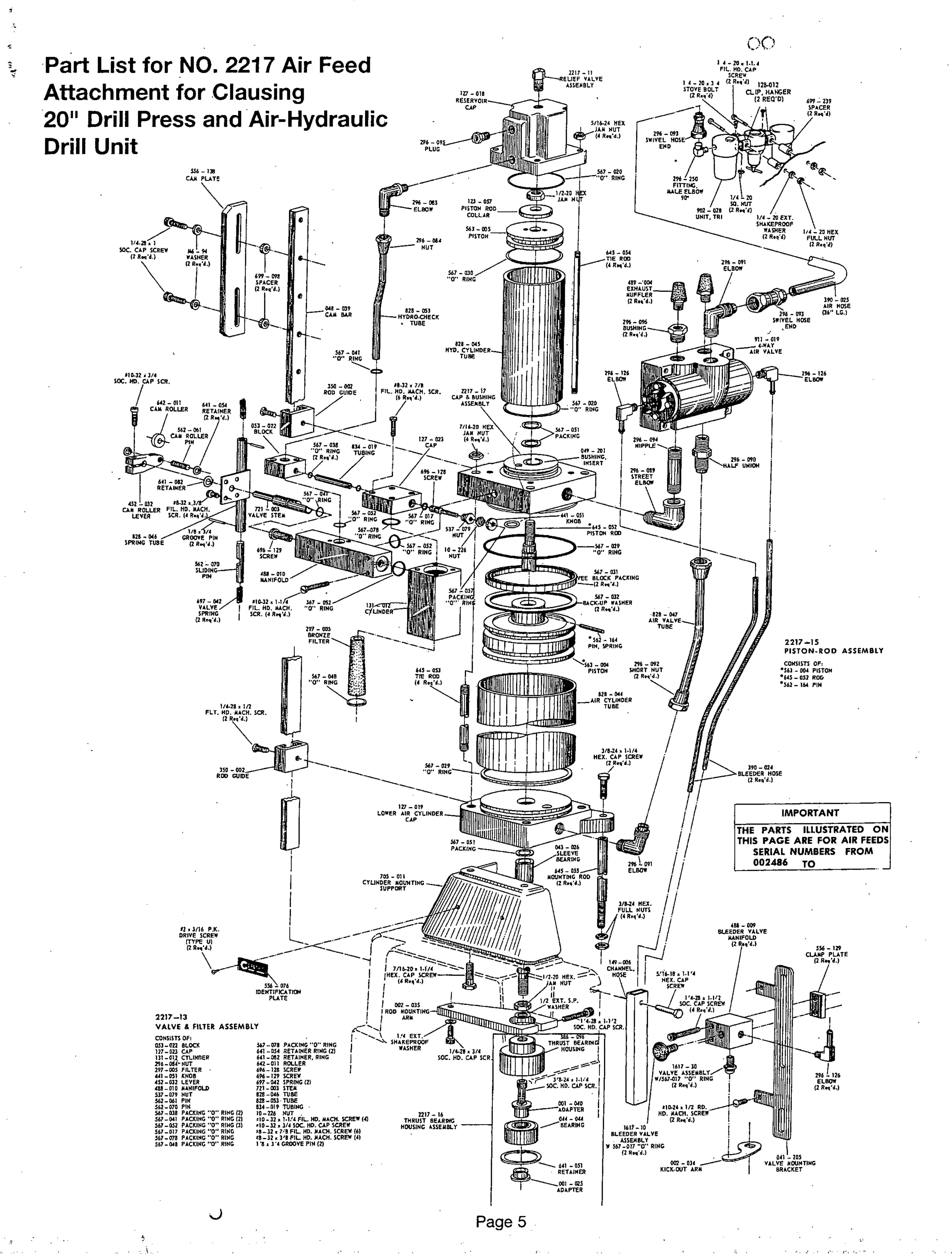 Clausing 2217 Drill Press Manual