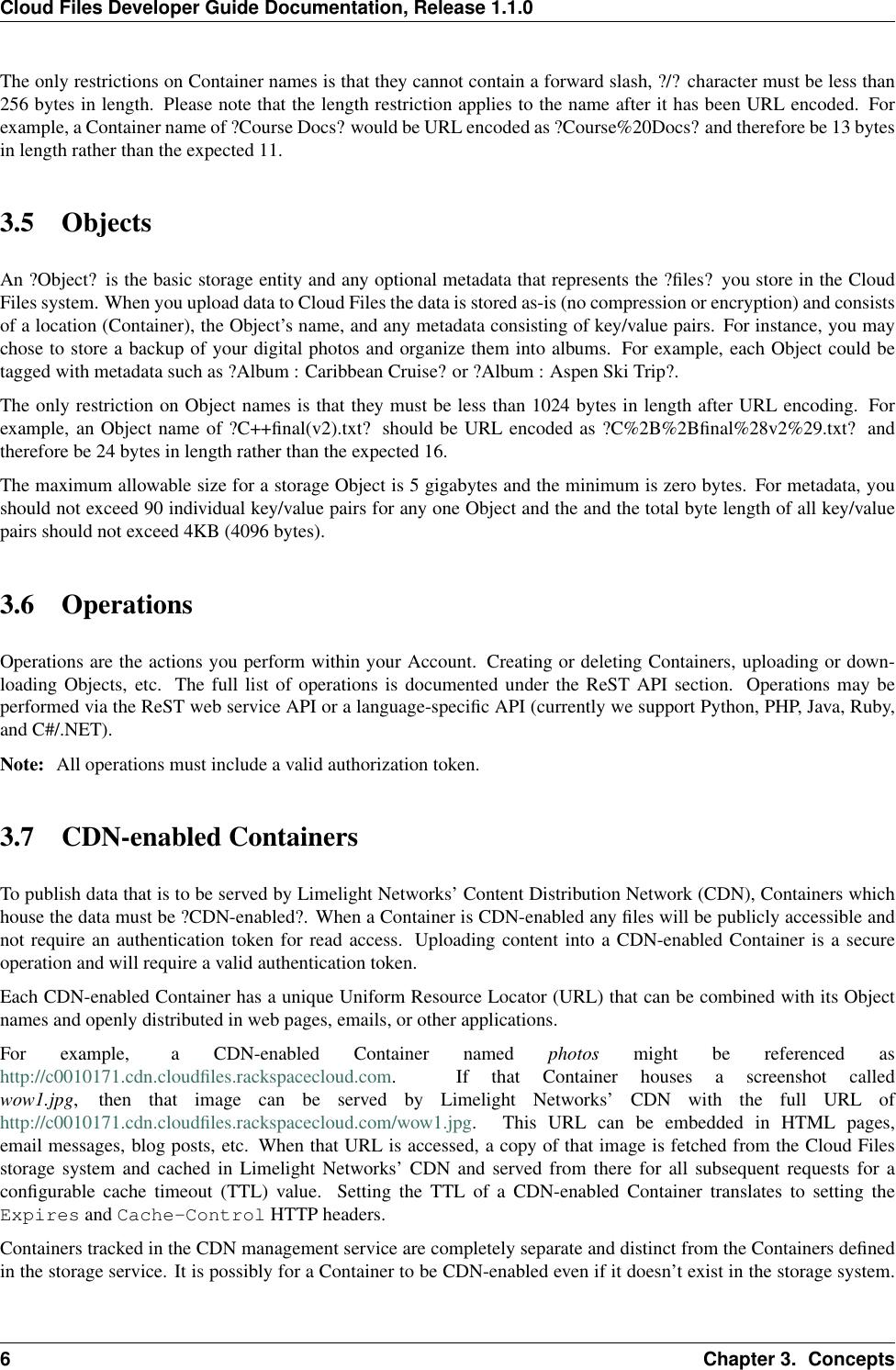 Cloud Files Developer Guide Ation