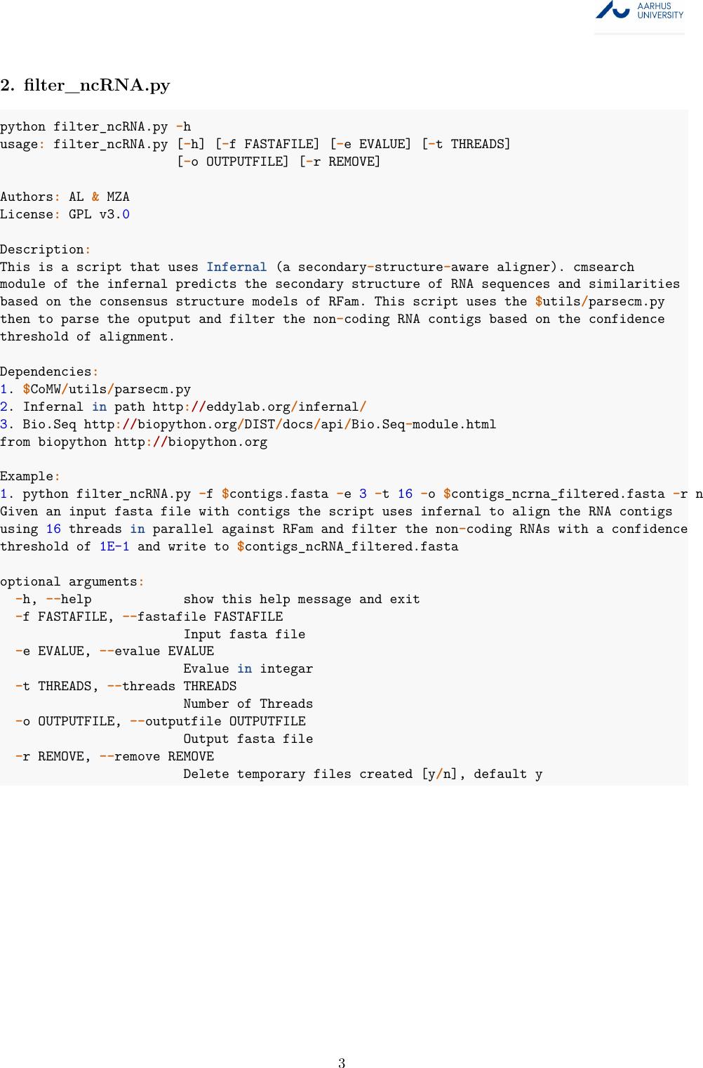 Comparative Metatranscriptomics WorkFlow (CoMW) Co MW Manual