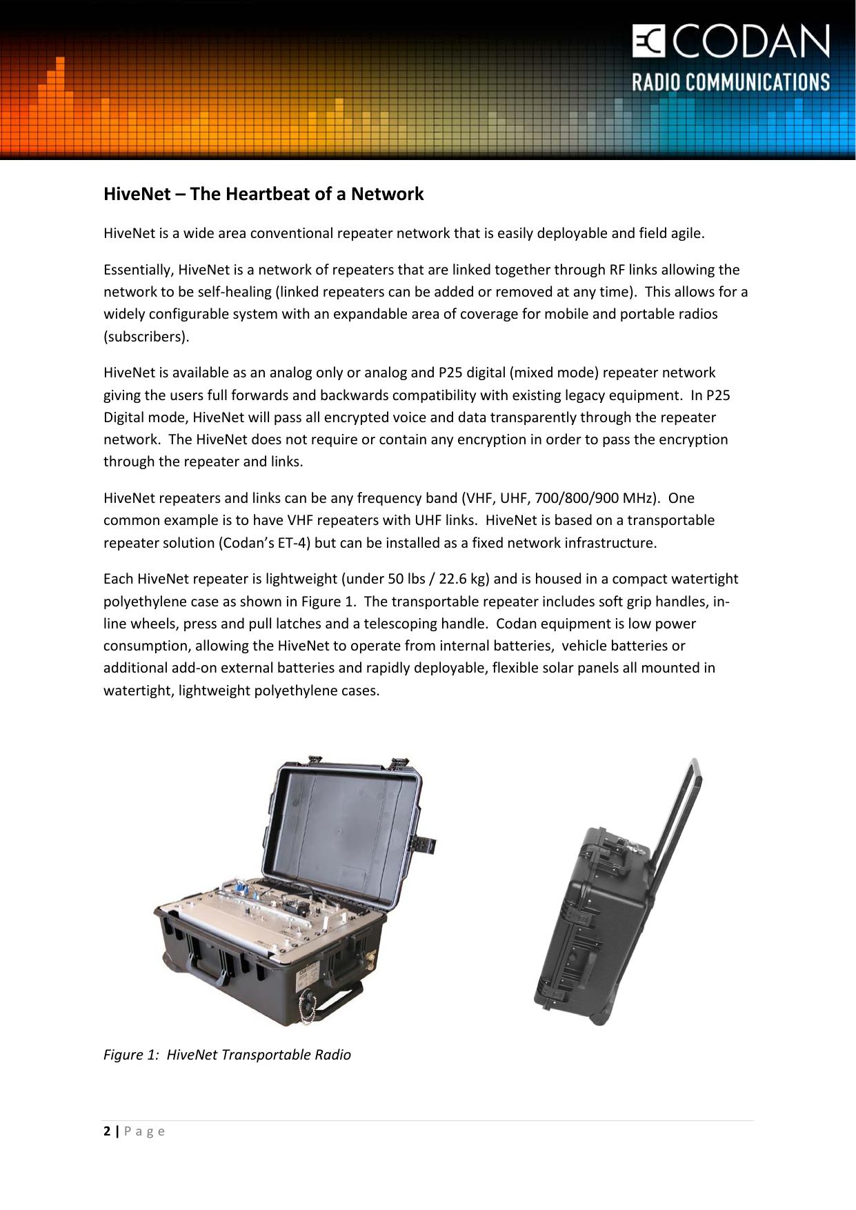 Hive Net: The Heartbeat Of A Network White Paper Codan Radio