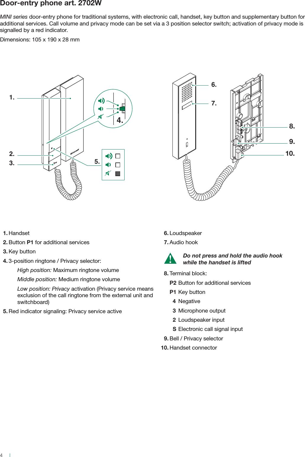 Mini Intercom Circuit Diagram