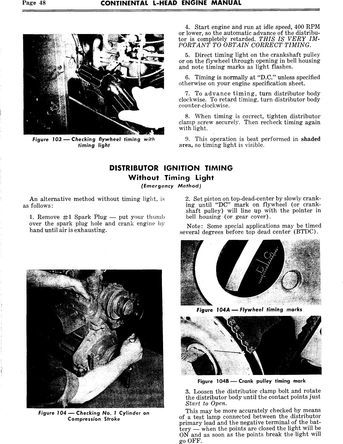 Continental L Head F 163 etc Overhaul Manual