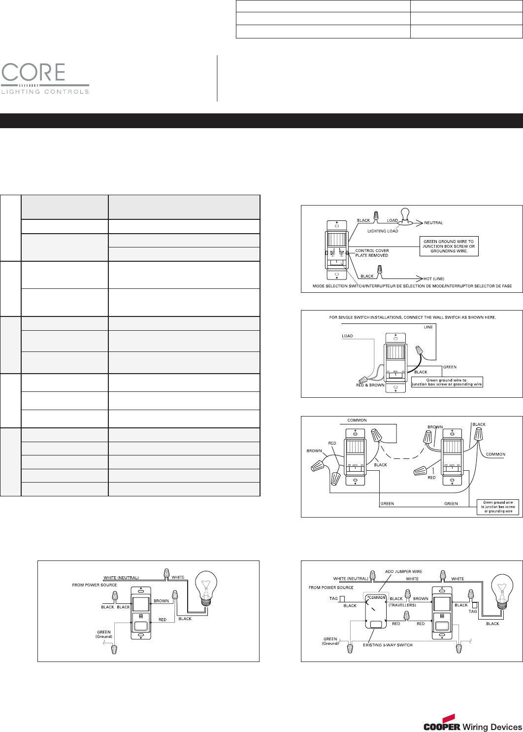 Cooper Motion Sensor Wiring Devices Diagrams Cooperwiringdevicescom2 Lcsdspsh1 0410