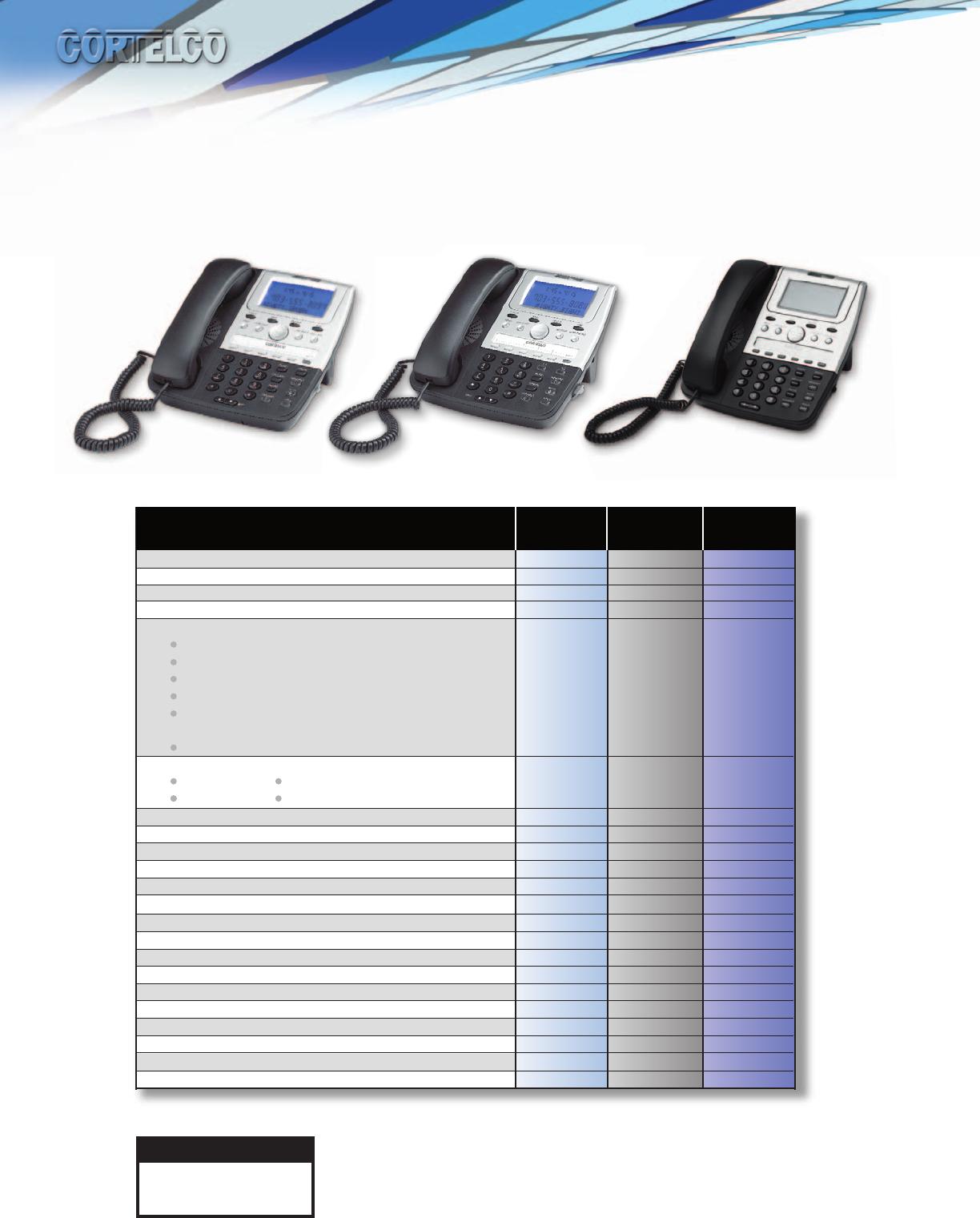 Cortelco 272000-TP2-27S 7 Series Line Powered Caller ID Telephone