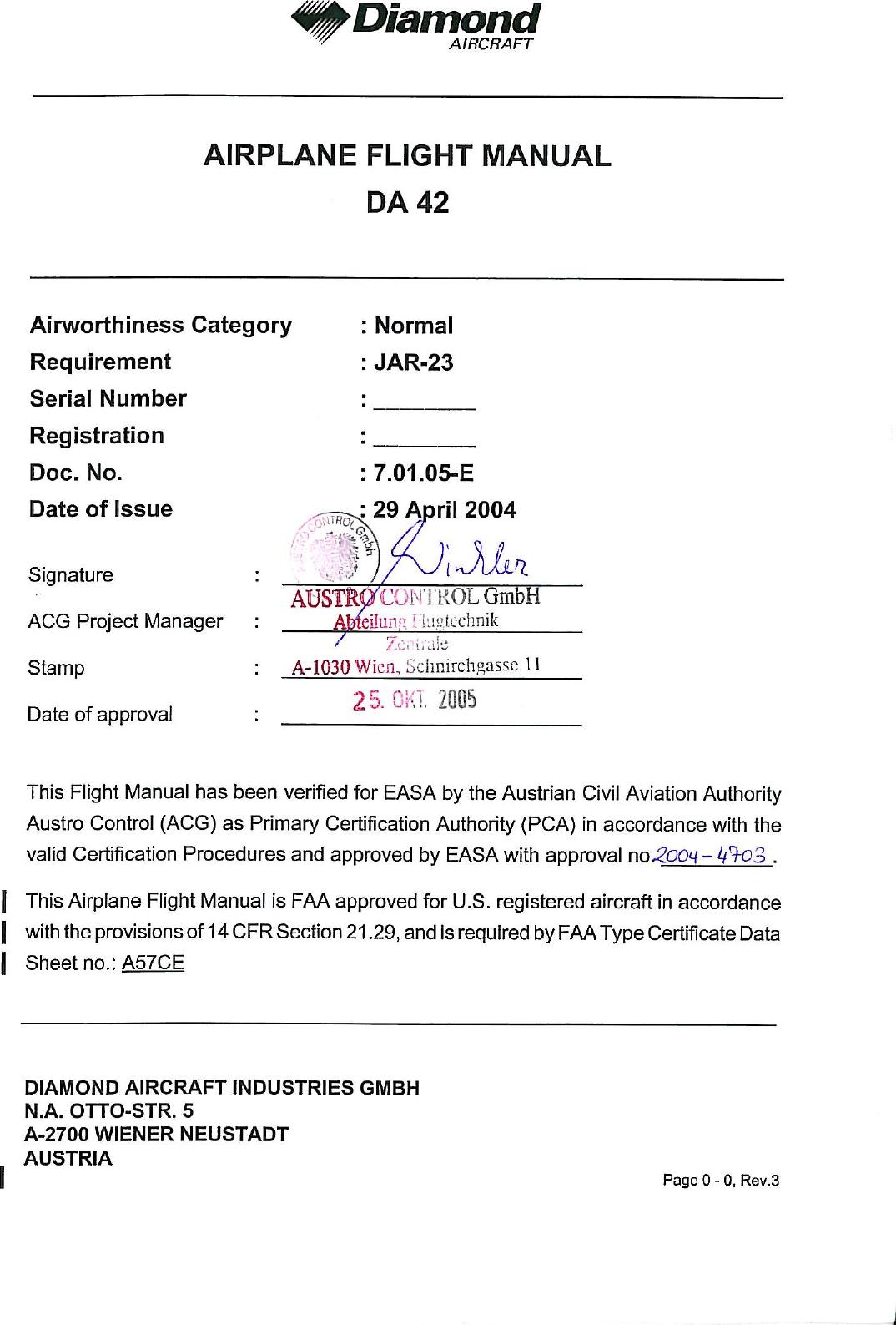 Da 42 Afm Rev 4 Da42 Diamond Twin Flight Manual 24 Volt 8030 Alternator Wiring Diagram