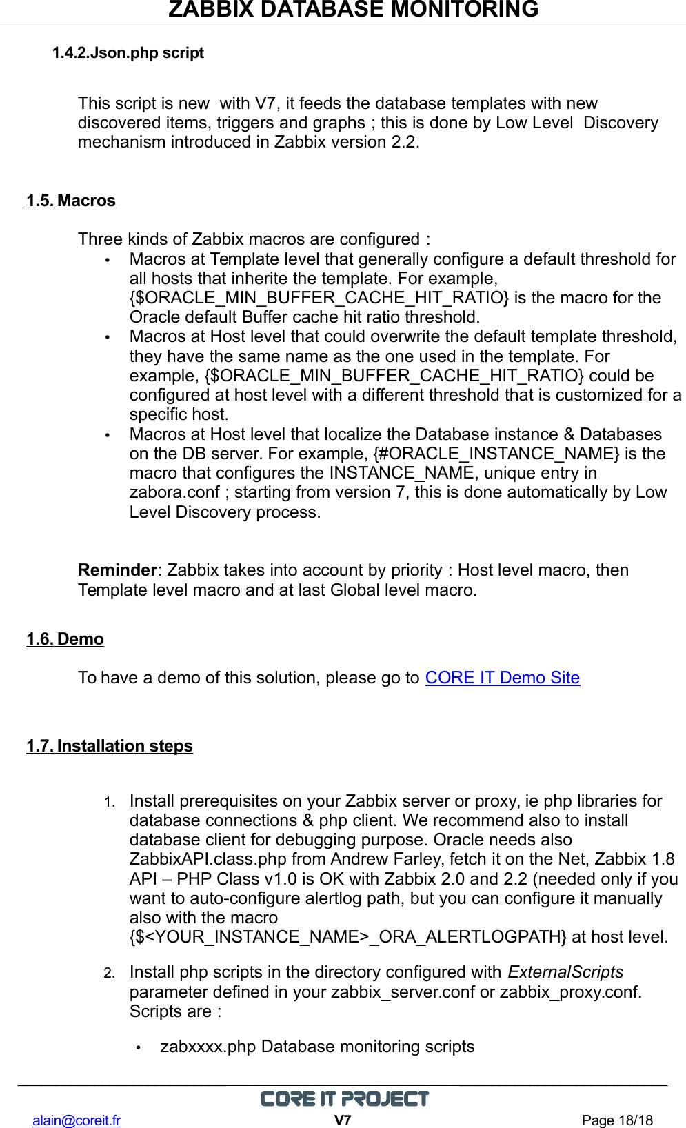 Zabbix Database Monitoring DB Ref Guide US V7
