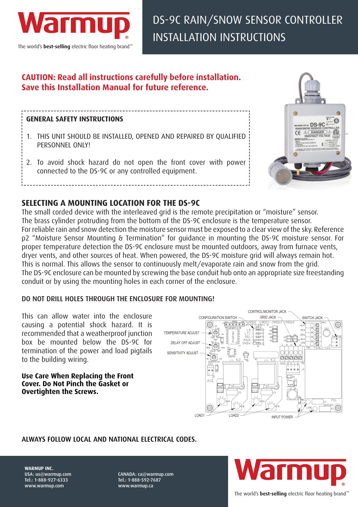 Ds9c Instruction Manual Diagram Wire Sensor Cdp 2 Snow