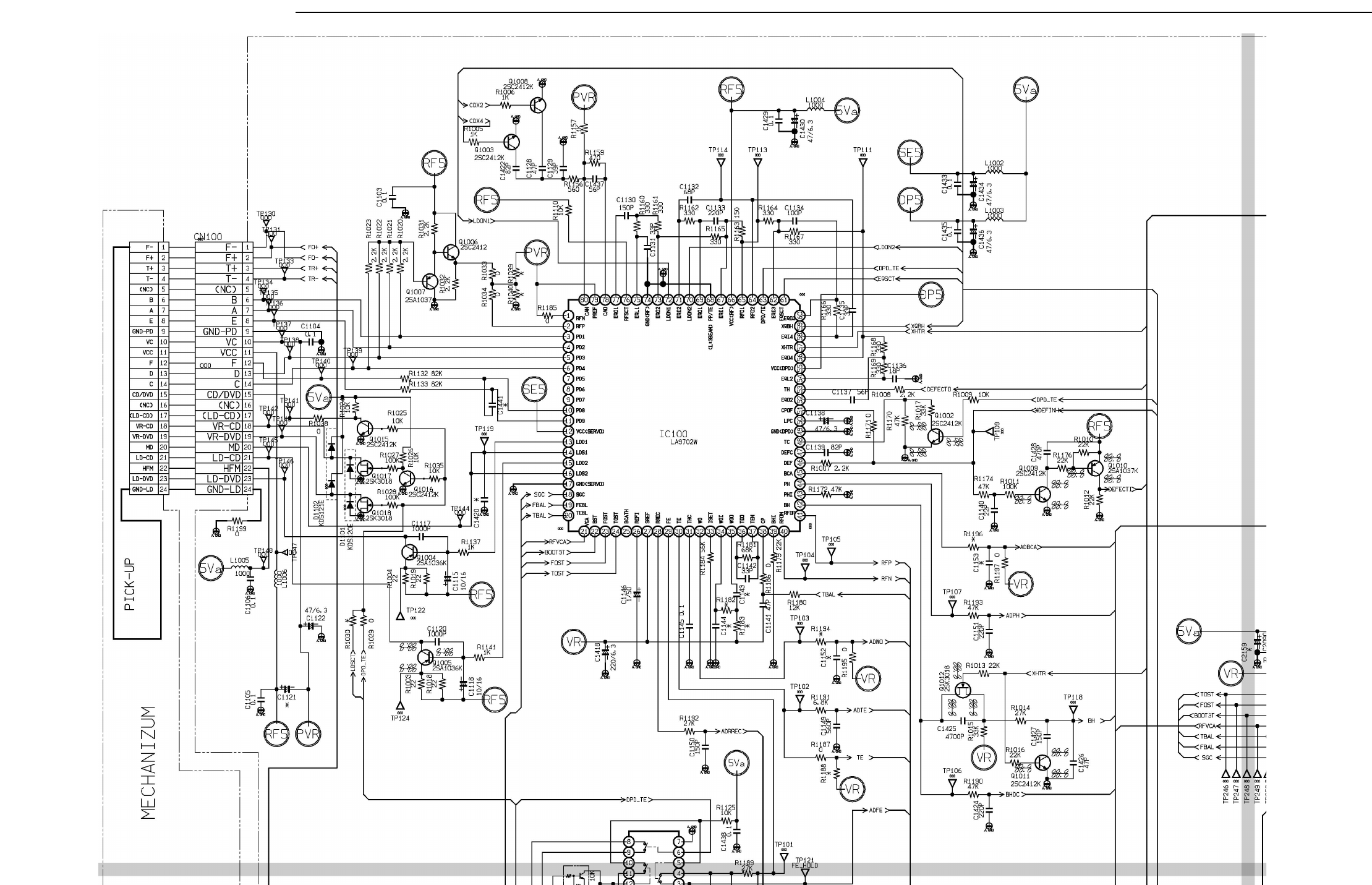 Dvd7201 Circuit Diagram For Dvd Servo Control Schematic Diagramdvd Top Left