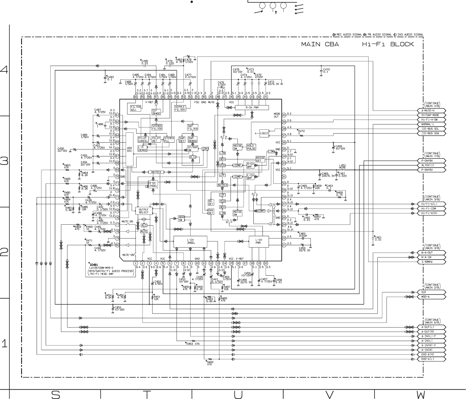 H9622md Dvp620 Drive Scr Flash Circuit Diagram Powersupplycircuit Main 4 8 Schematic Vcr Section