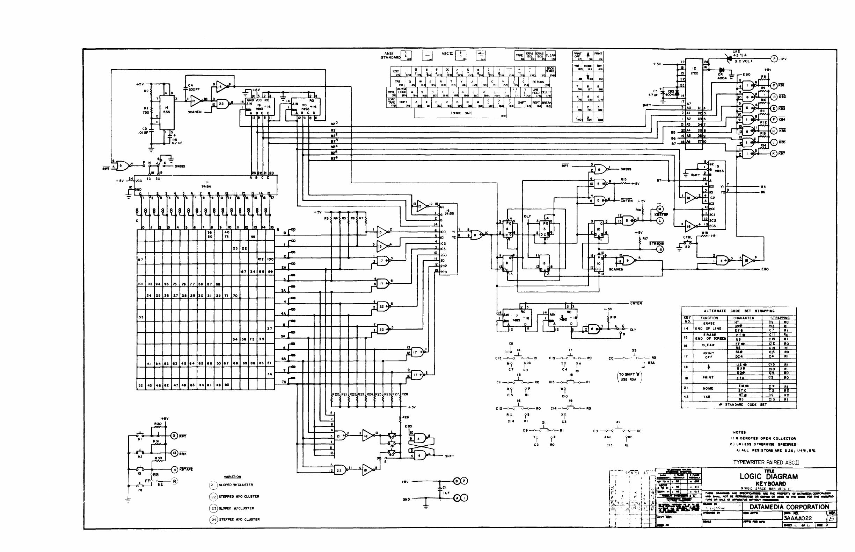 Datamedia Elite 1520a Technical Manual Logic Diagram 7493 A