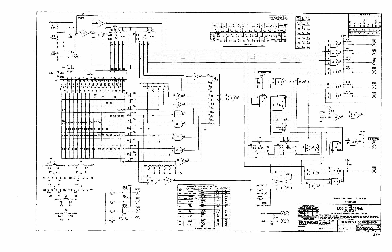 Datamedia Elite 1520a Technical Manual Logic Diagram 7493 K
