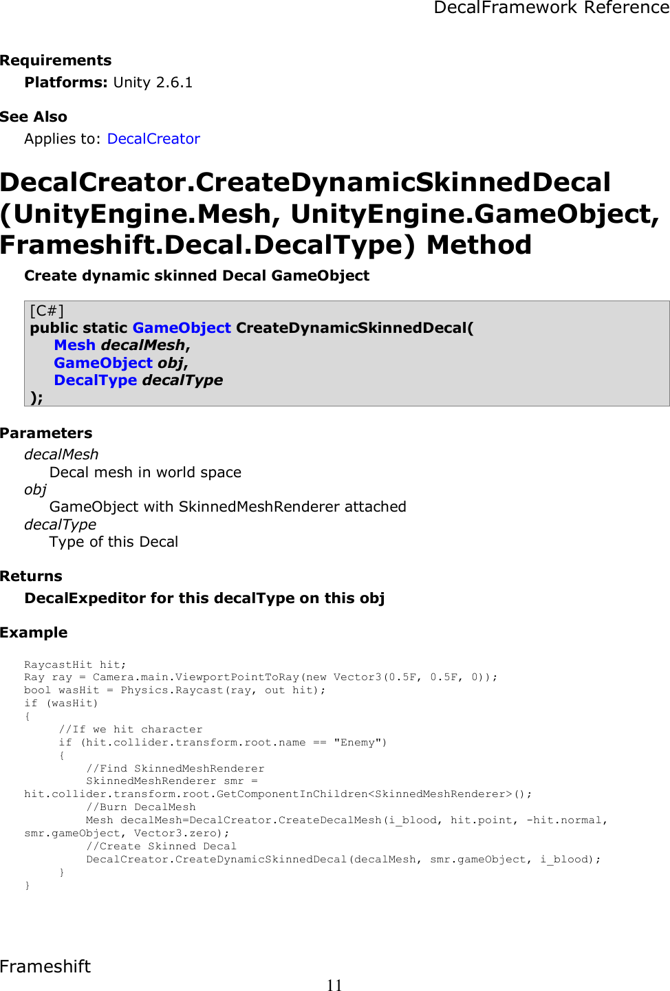 DecalFramework Reference Decal Framework 2 Scripting Manual