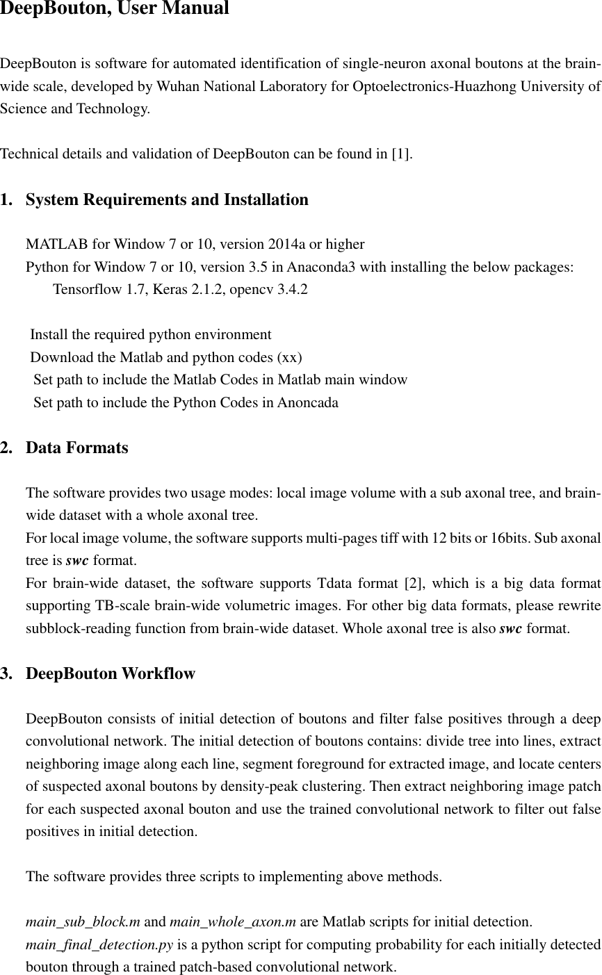 Deep Bouton User Manual