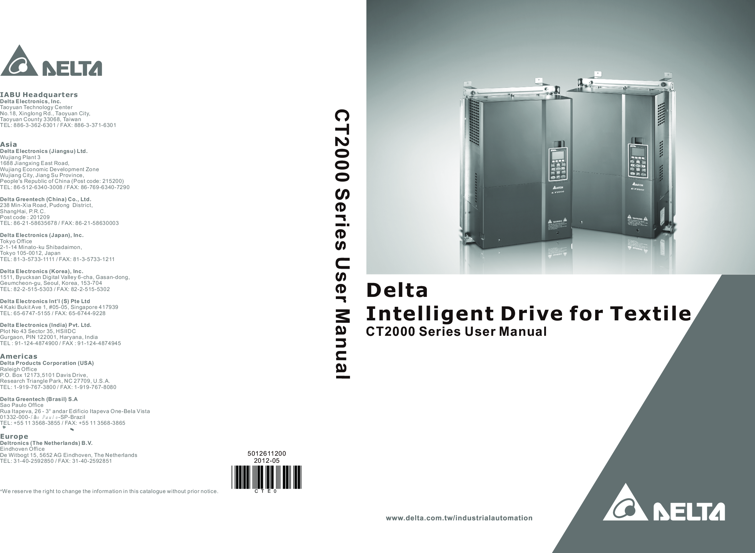 00 Table Of Contents Delta_IA MDS_VFD CT2000_UM_EN_20120524 ... on
