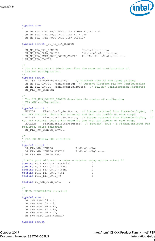 Intel Atom® C3XXX Product Family Intel® FSP Integration Guide