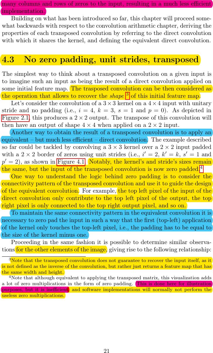 论文 A Guide To Convolution Arithmetic For Deep