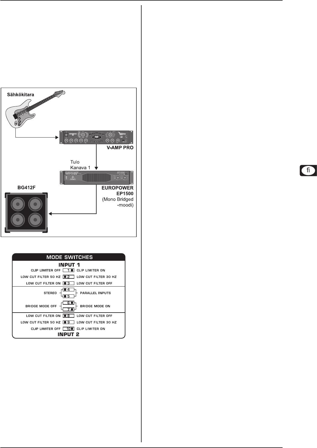 BEHRINGER CX2310 kytkennät rento kytkennät vinkkejä