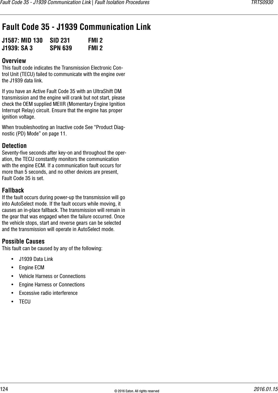 Eaton Ultrashift Fault Code 66