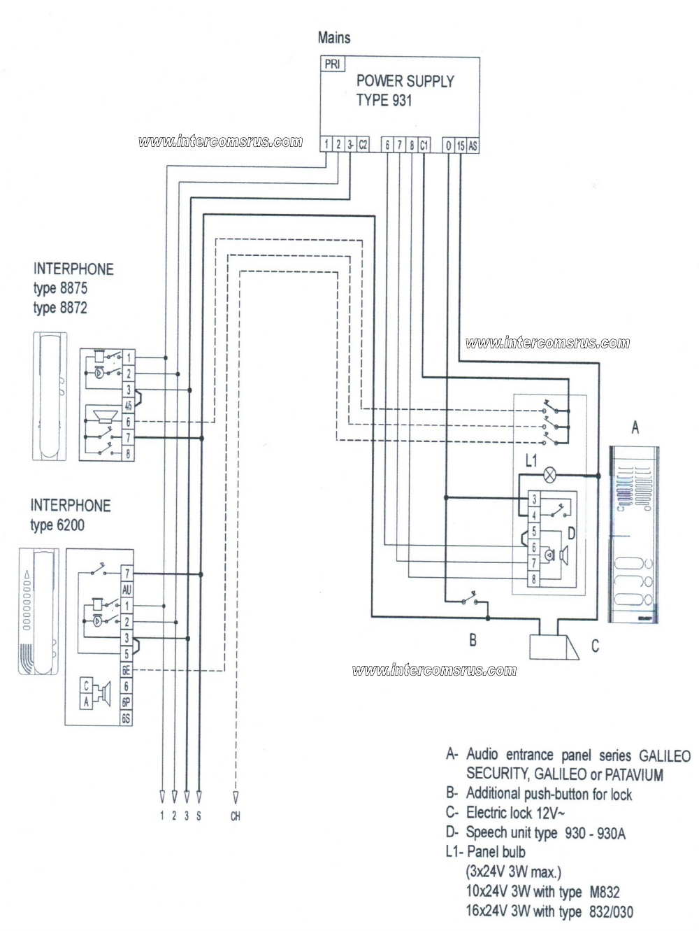 Entrance From 3 Wire Diagram