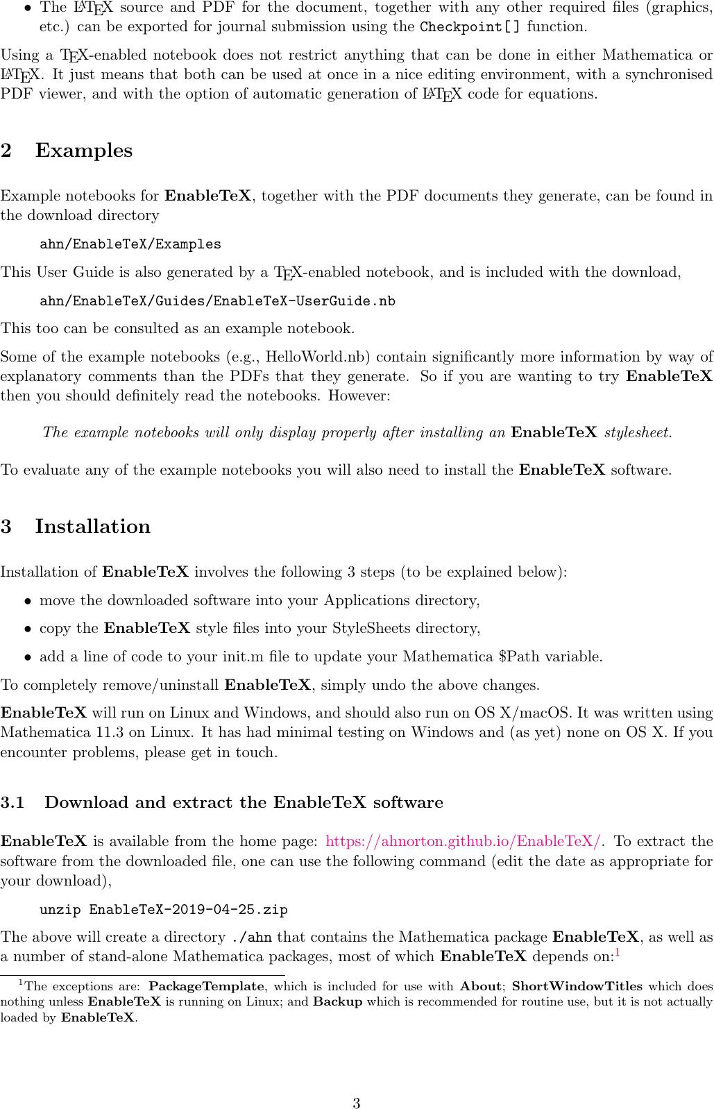Enable Te X User Guide