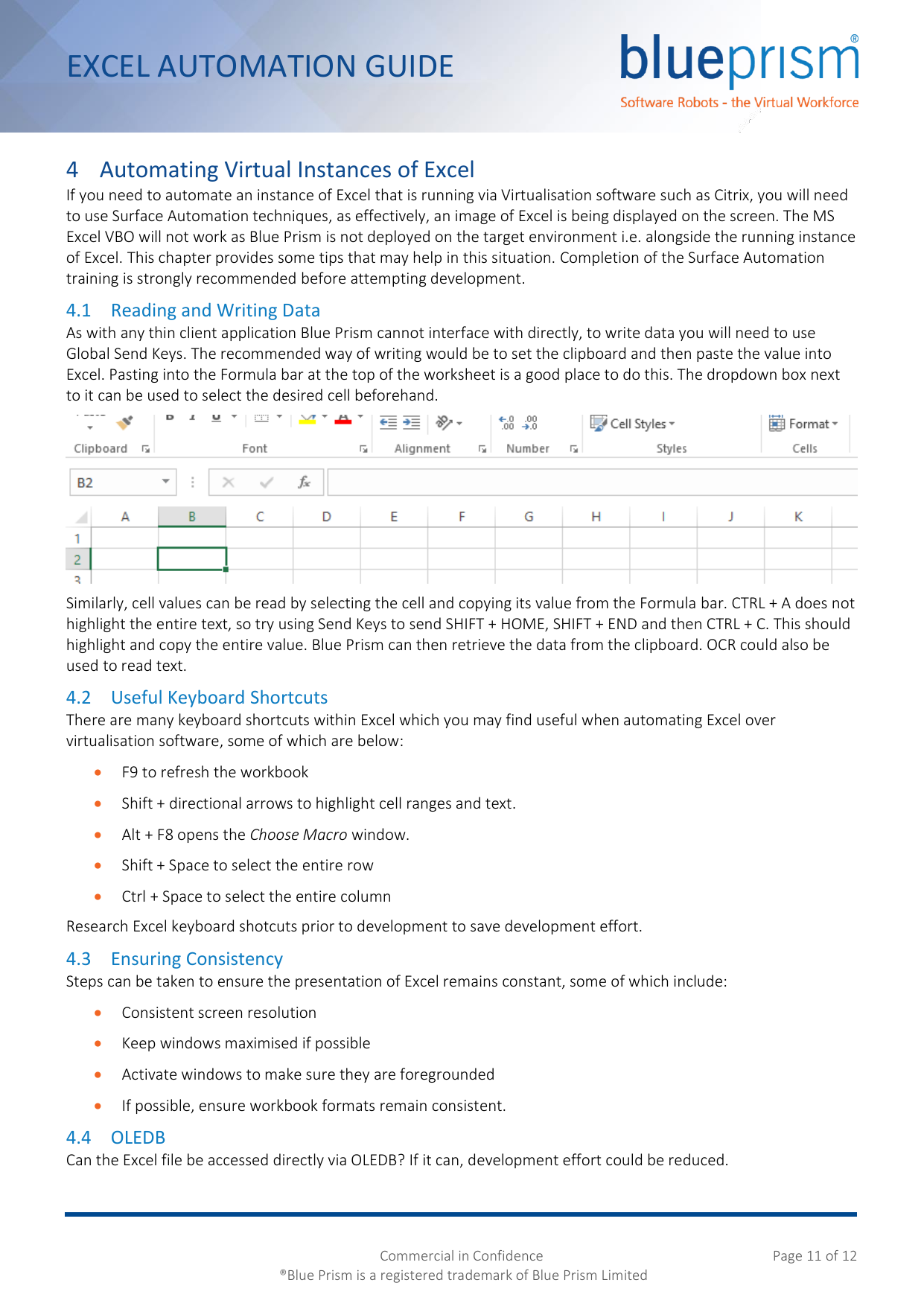 Page 11 of 12 - Blue Prism Excel Automation Guide