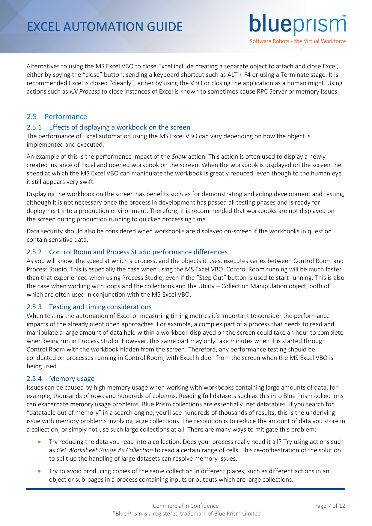 Page 7 of 12 - Blue Prism Excel Automation Guide