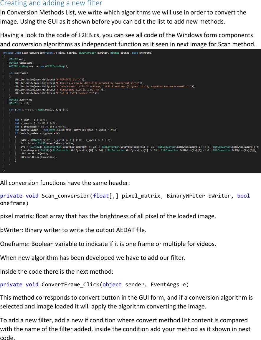 F2eb: DEVELOPER GUIDE F2EB Development