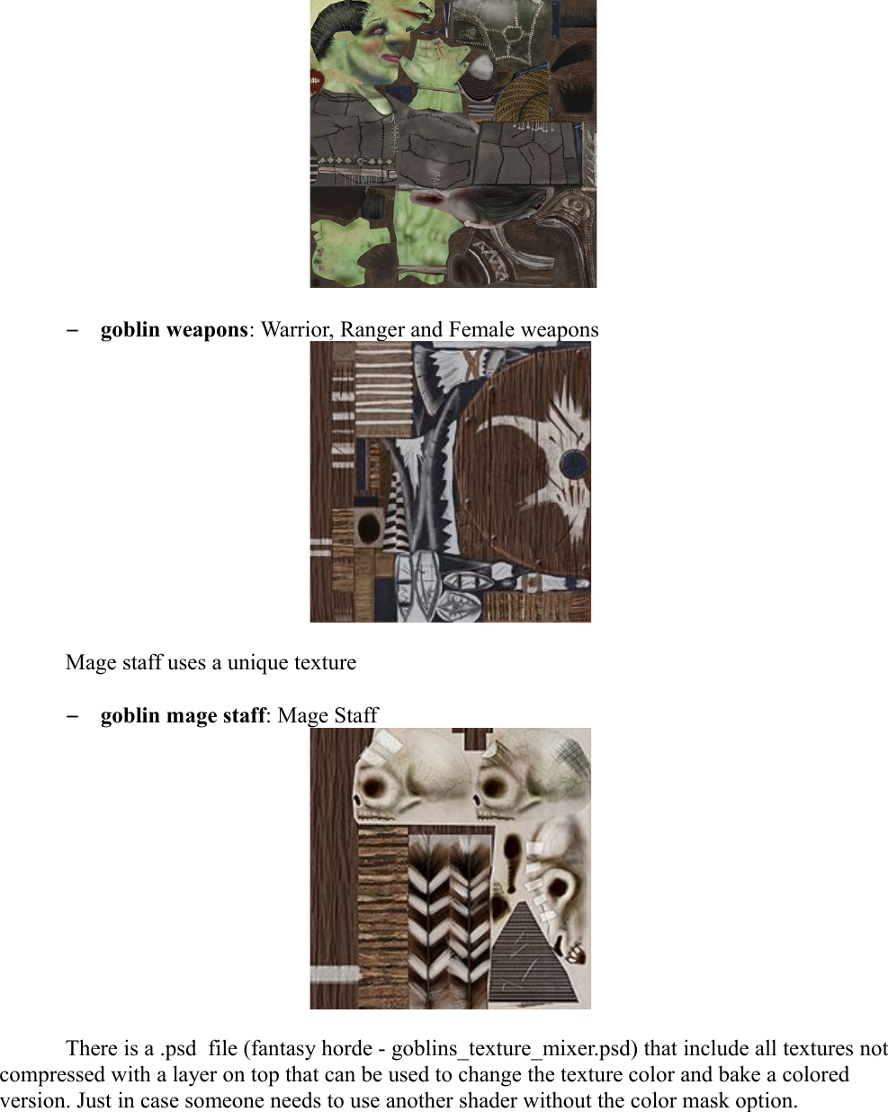 Fantasy Horde Goblin Instructions