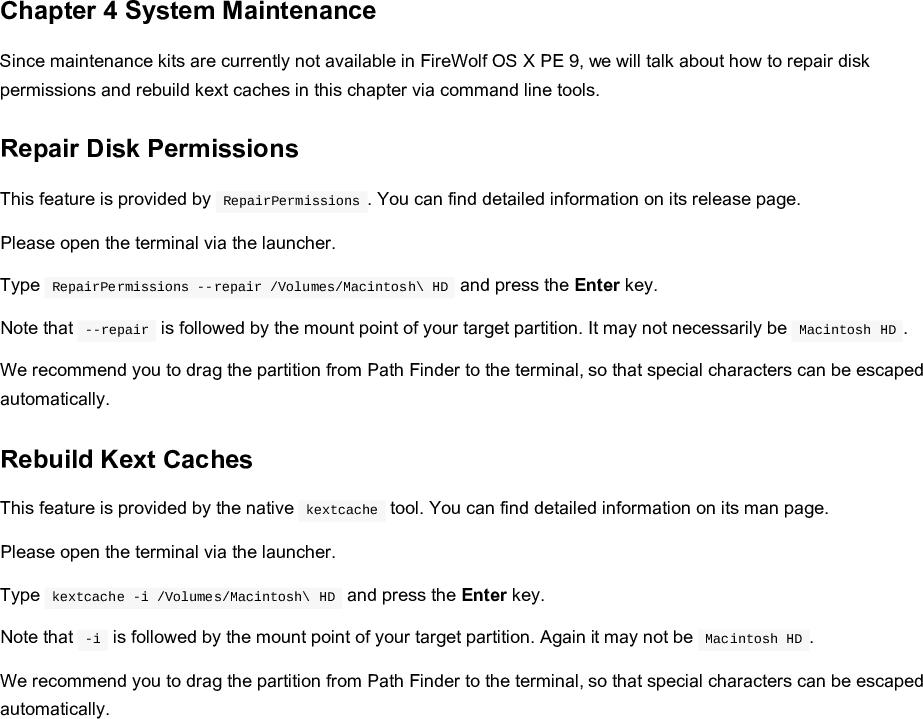 Fire Wolf OS X PE 9 Manual EN